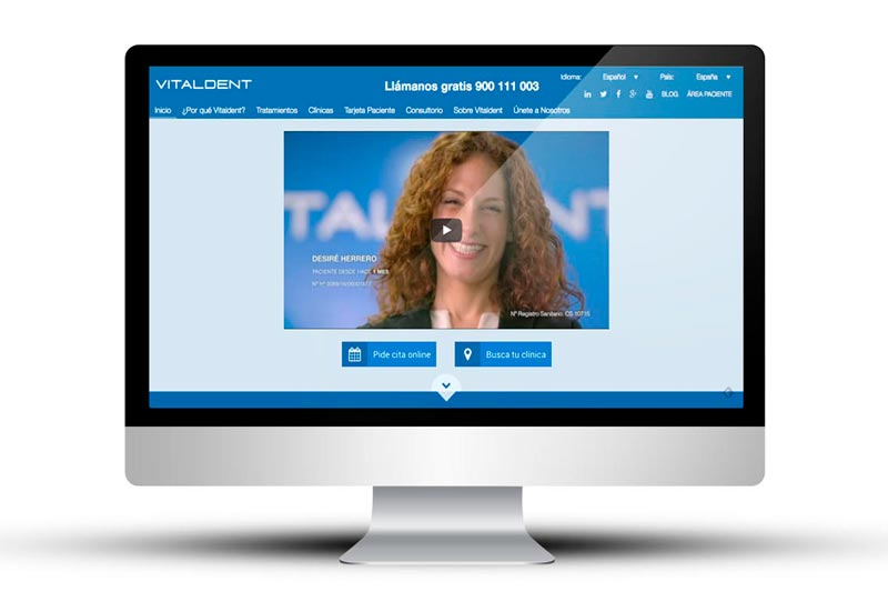 Nueva web corporativa de Vitaldent